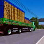 Scania 113 Frontal Verde Super Qualificada + Carga GFM (CONJUNTO)
