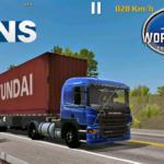 Conjunto de Skins Scania P310 + Carreta Contêiner World Truck Driving Simulator