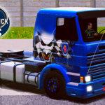 Skin Scania 113H Frontal Azul