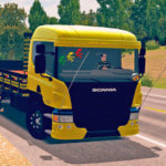 Scania P310 Amarela Com Detalhes