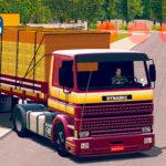 Scania 113 Frontal + Carreta Granel 2 Eixos Com Faixas Originais