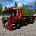 Scania P310 Vermelha Streamline (Qualificada)