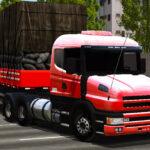 Skins Scania 124G Vermelha com Carreta de Carvão (QUALIFICADA)