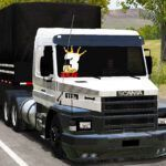 Skin SCANIA 113H - Branco e Preto (Qualificado e EXCLUSIVO)