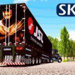 Skin Volvo EDC Preto + Sider JSL com Lameiro (CONJUNTO)