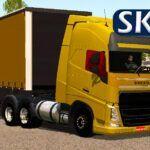 Skin Volvo FH Dourado com Sider (CONJUNTO)