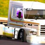 Skin Scania 113H Branca com Faixa Amarela (EXCLUSIVA)