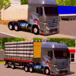 Skin ACTROS com Carreta 2 EIXOS – Exclusivo e QUALIFICADO