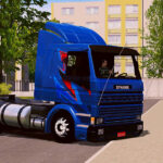 Skin Scania 113h Frontal azul Grafitado – Exclusivo e QUALIFICADO
