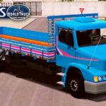 Skin MB 1620 Azul com Faixas Rosa  – Exclusivo e QUALIFICADO