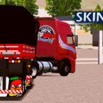 Skin Volvo FH no Bitrem Vermelho  – CONJUNTO