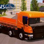 Skin Scania p310 Laranja com Insufilm Azul   – Exclusivo e QUALIFICADO