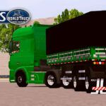 Skin DAF XF Verde na 2 eixos Tampa Alta Qualificado – CONJUNTO