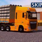 Skin DAF XF Amarelo na Carretinha 2 Eixos – CONJUNTO