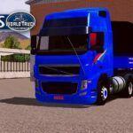 Skin Volvo FH Azul com Insufilm no Bitrem  – CONJUNTO