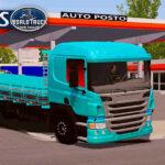 Skin Scania p310 Azul com Insufilm Vermelho  – Exclusivo e QUALIFICADO