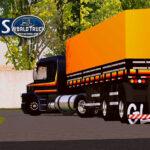 Skin Scania 113h Preta na 2 eixos Tampa Alta – CONJUNTO