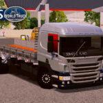 Skin Scania P310 Cinza com Insufilm Vermelho  – Exclusivo e QUALIFICADO