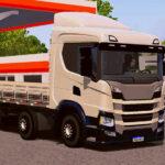 Skin Scania p320 Bege com Rodas pretas  – Exclusivo e Qualificado