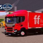 Skin Scania p320 Baú F&F hortifruti  – Exclusivo e Qualificado