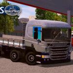 Skin Scania p310 cinza com rodas Pretas e Insufilm – Exclusivo e Qualificado