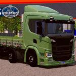 Skin Scania p320 Verde abacate com Rodas pretas – Exclusivo e Qualificado